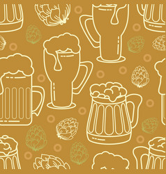 beer seamless pattern background vector image