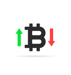 bitcoin rates icon isolated on white vector image