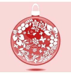 Christmas ball with ornament vector