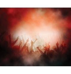 Concert crowd vector image vector image