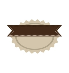 star oval shape seal stamp with brown label vector image