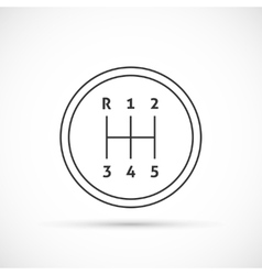 Manual transmission outline icon vector image vector image