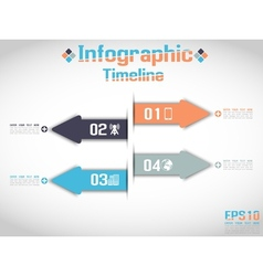 MODERN ORIGAMI BUSINESS ARROW STYLE OPTIONS BANNER vector image vector image