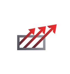 square with arrows logo template arrow logo vector image vector image
