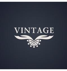 Vintage luxury emblem Elegant Calligraphic vector image vector image