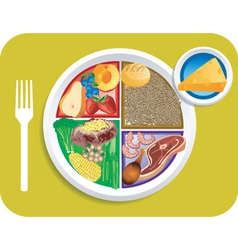 dinner items vector image