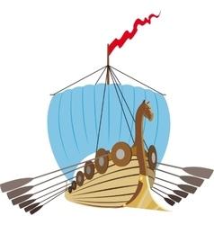 Drakkar Vikings Ship vector image