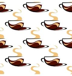 Hot seaming coffee seamless vector image vector image