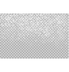 Overlay falling shining snow isolated on the vector