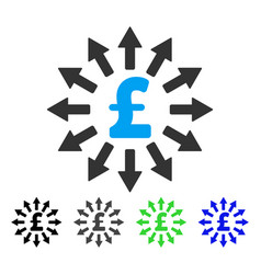 pound money distribution flat icon vector image vector image