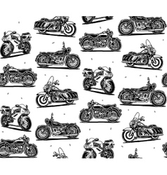 Retro motorcycles seamless pattern vector image vector image