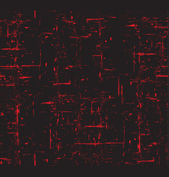 seamless red and black grunge texture with scuffs vector image vector image