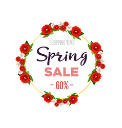 spring sale background banner with colorful vector image