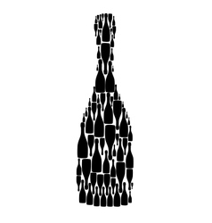 with bottles on white background vector image vector image