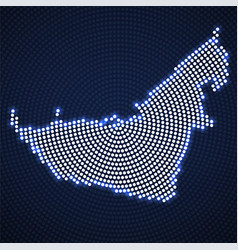 abstract map united arab emirates glowing vector image