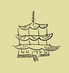 asian pagoda tower vector image