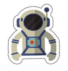 astronaut suit and helmet shadow vector image