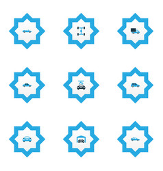 Automobile icons colored set with car auto vector