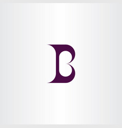 b logo letter geometric symbol dark purple icon vector image