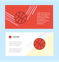 basket ball abstract corporate business banner vector image