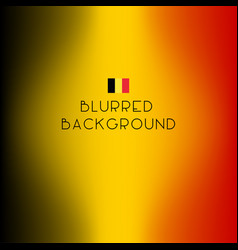 Blurred color belgium flag background vector