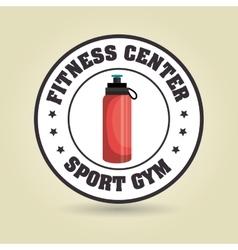 bottle sport gym vector image