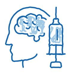 Brain syringe injection vaccine headache vector
