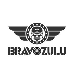 Bravo zulu design logo template vector