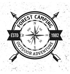 camping and outdoor adventure retro emblem vector image