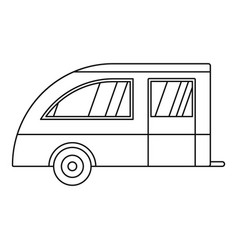Camping trailer icon outline style vector