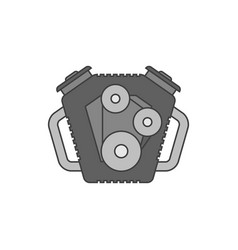 car engine flat line icon vector image