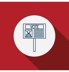 Card paper of vote concept vector image