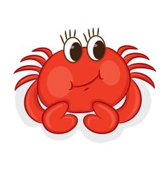 Cartoon crab vector image