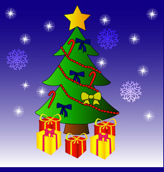 christmas tree graphics vector image