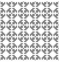 Cross stitch seamless decorative pattern vector