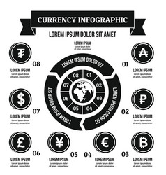 currency infographic concept simple style vector image
