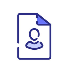 File personal user single isolated icon with dash vector