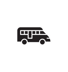 flat glyph bus icon symbol sign logo template vector image