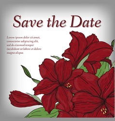 flower invitation save the date card template vector image