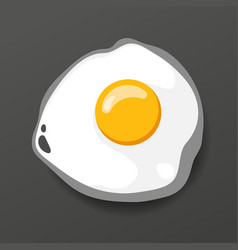 fried egg cooking lunch dinner breakfast vector image