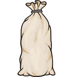 Grain in burlap sacks vector
