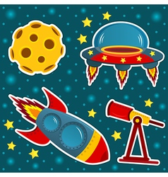 icon set space vector image vector image
