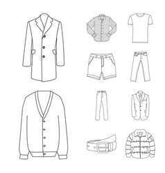Isolated object of man and clothing icon vector