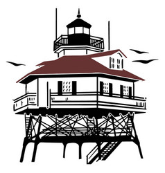 lighthouse drawing vector image
