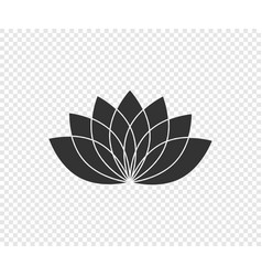 lotus flower lotus black icon isolated on vector image