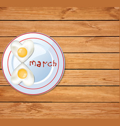 love food idea for 8 march breakfast vector image
