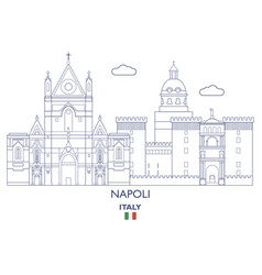 napoli city skyline vector image