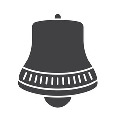 Notification alert bell - flat icon for apps vector