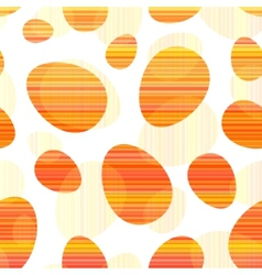 Orange stripes Easter eggs seamless pattern vector image
