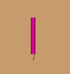 pencil red vector image